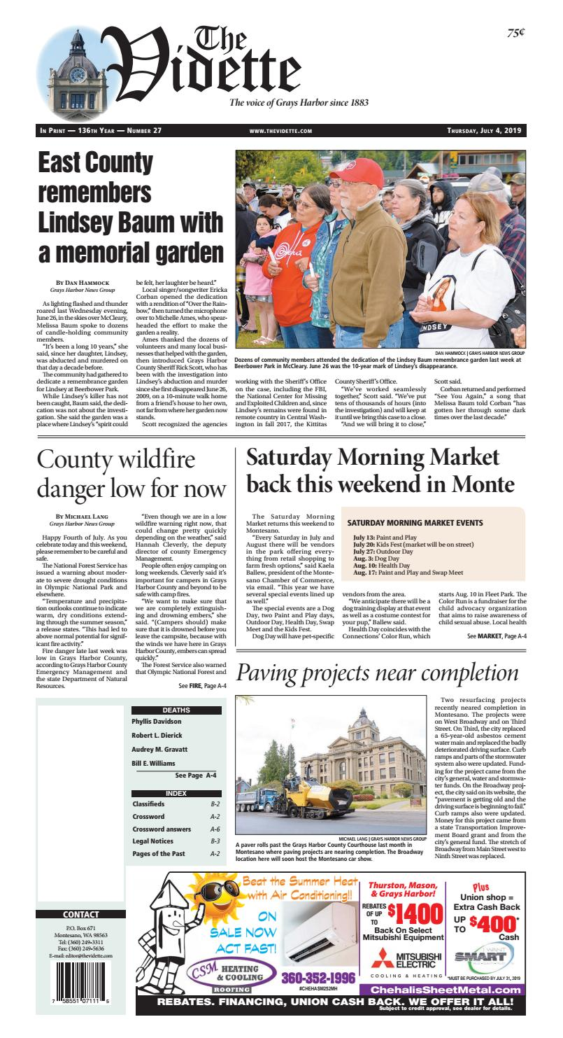 Montesano Vidette, July 04, 2019 by Sound Publishing - issuu