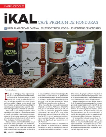 Page 22 of ikal Premium Coffee from Honduras