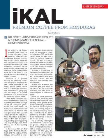 Page 23 of ikal Premium Coffee from Honduras