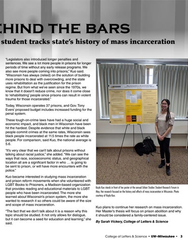 Page 3 of A look behind the bars: Urban Studies student tracks state's history of mass incarceration