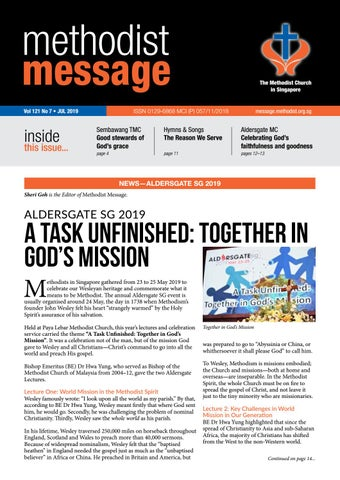 Methodist Message: July 2019 by Methodist Message - issuu