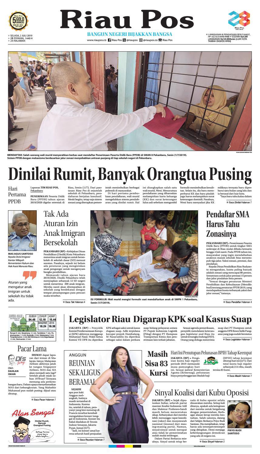 Riau Pos Edisi Selasa 02 Juli 2019 by Riau Pos issuu
