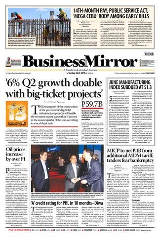 BusinessMirror July 02, 2019 by BusinessMirror - issuu