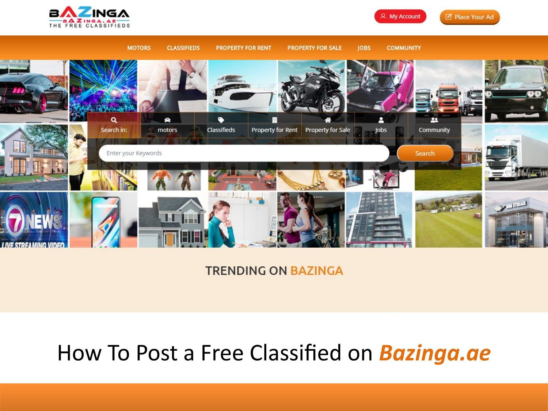 How To Use Bazinga The Free Classifieds in UAE