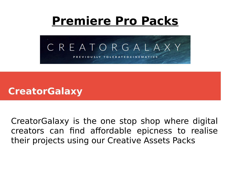CreatorGalaxy-Premiere Pro Packs