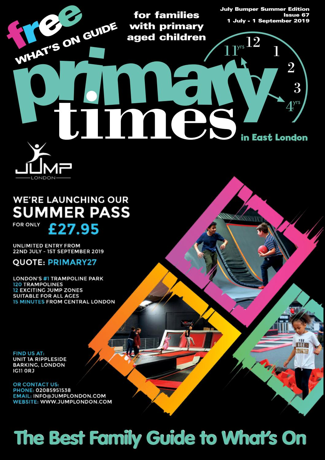 East London July Bumper Summer 2019 Primary Times by Alison