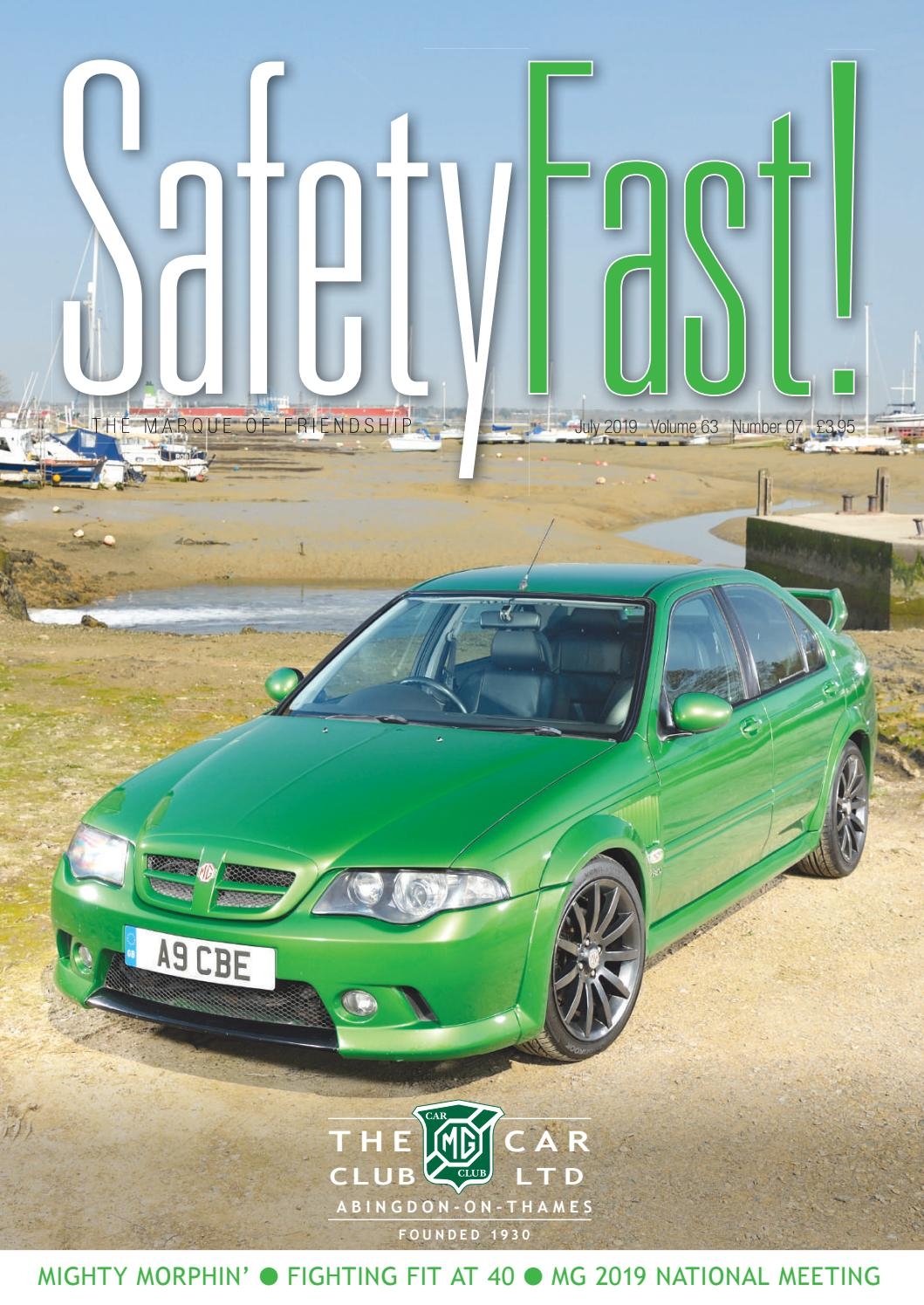 Safety Fast! July 2019 by MG Car Club - issuu