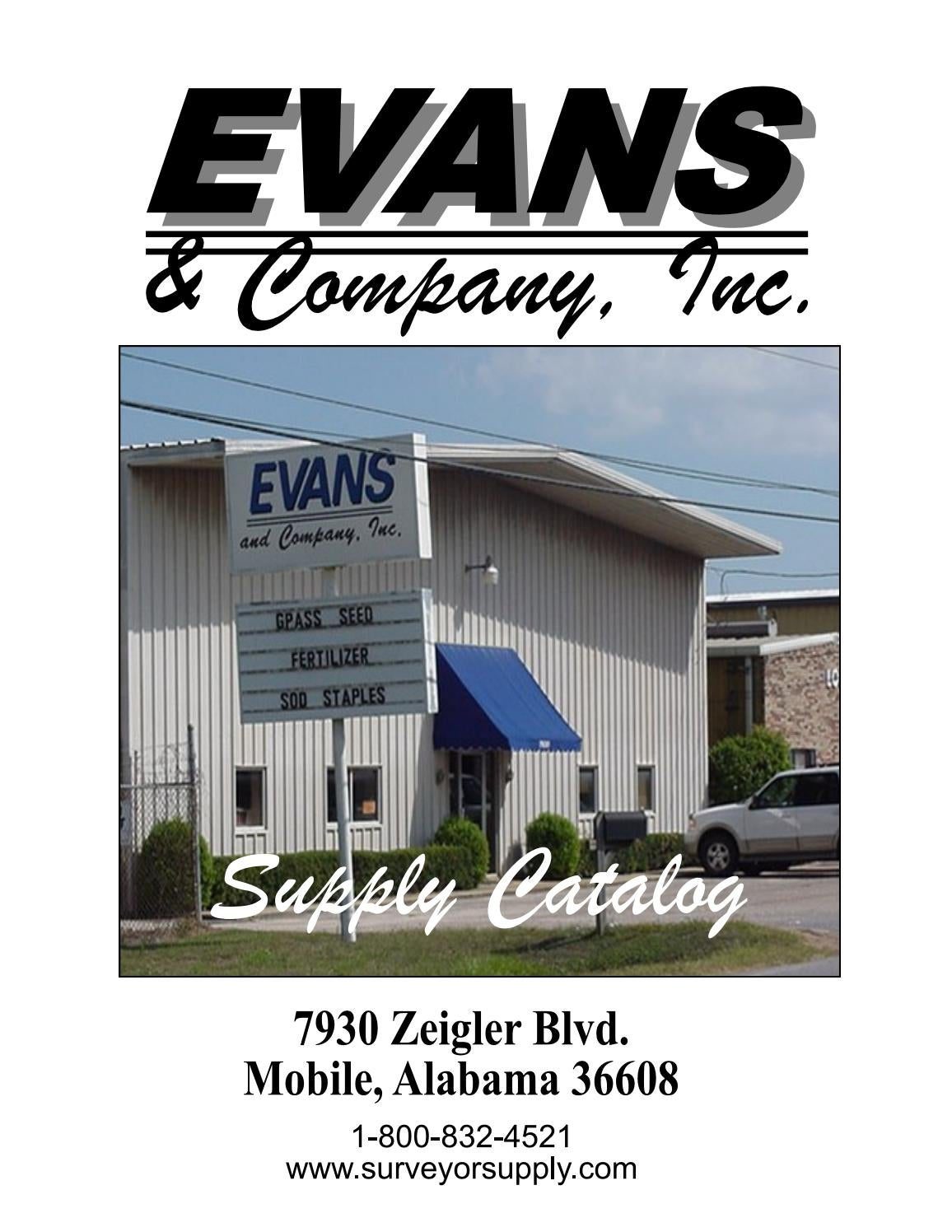 Evans and Company, Inc  Supply Catalog 2019 by Evans