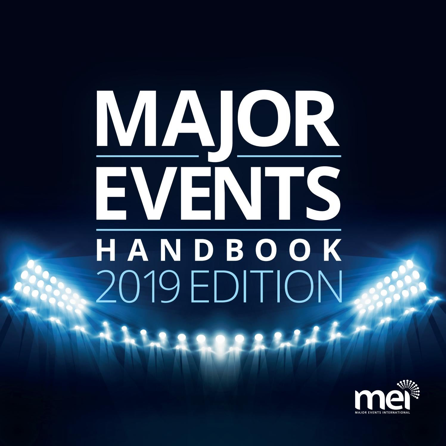 Major Events Handbook 2019 Edition by Major Events International - issuu
