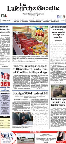 Wednesday, July 3, 2019 THE LAFOURCHE GAZETTE by The