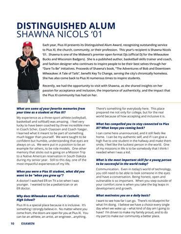 Page 10 of Distinguished Alum - Shawna Nicols '01
