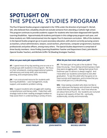 Page 4 of Spotlight On The Special Studies Program