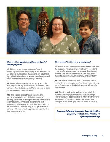 Page 5 of Spotlight On The Special Studies Program