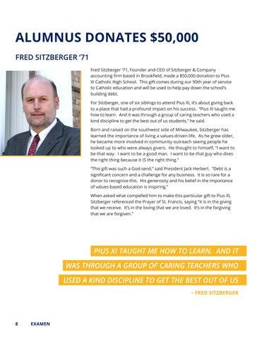 Page 8 of Alumnus Donates $50,000