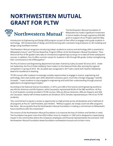 Page 9 of Northwestern Mutual Grant For PLTW