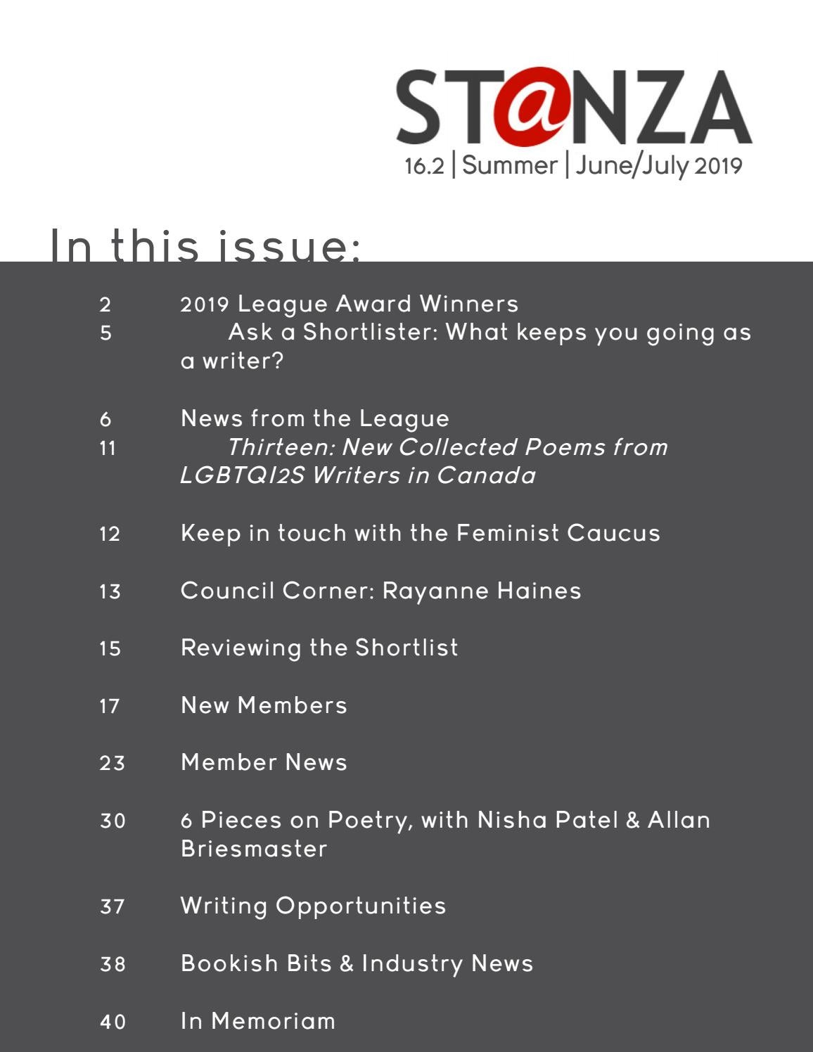 ST@NZA 16 2 | Summer | June/July 2019 by League of Canadian