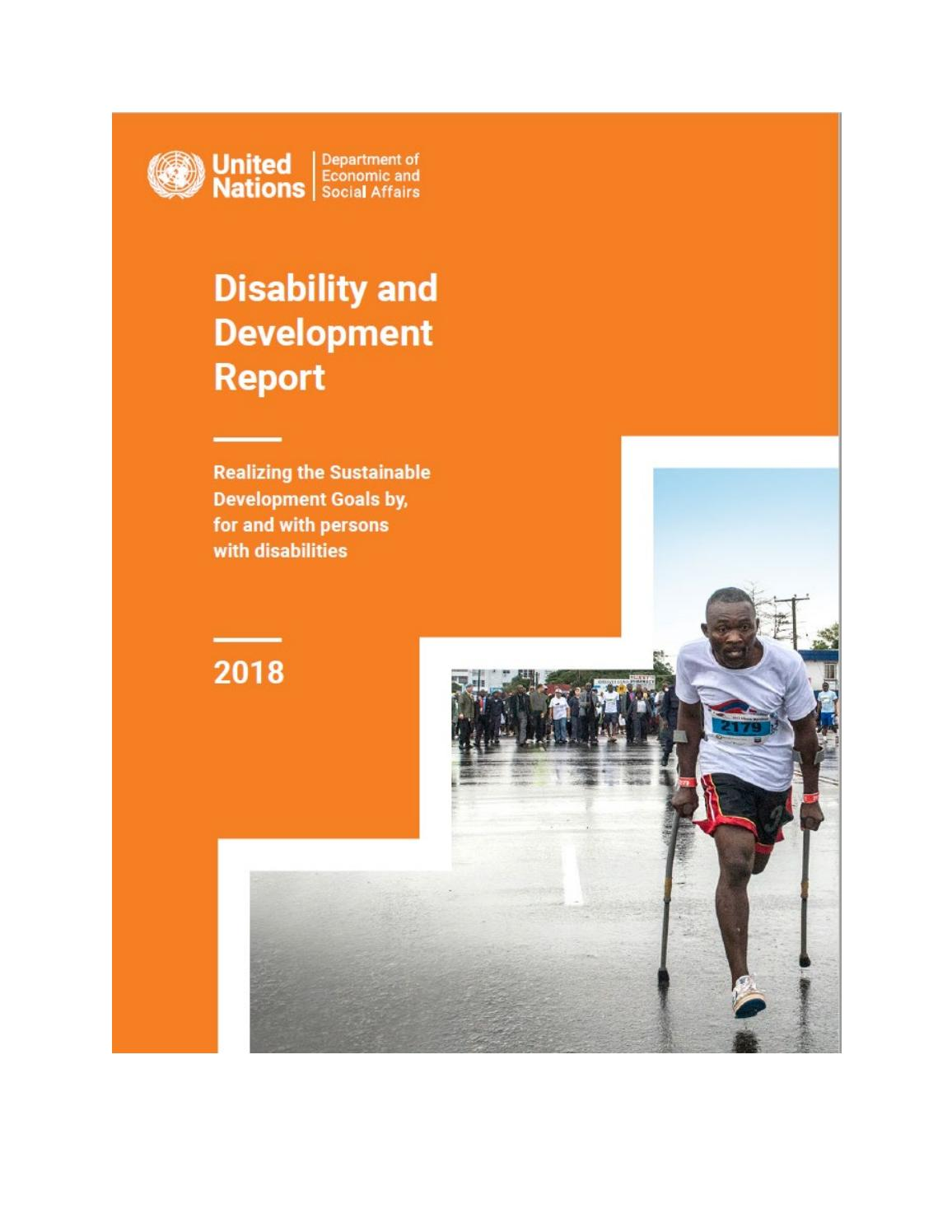 Disability and Development Report 2018 by United Nations
