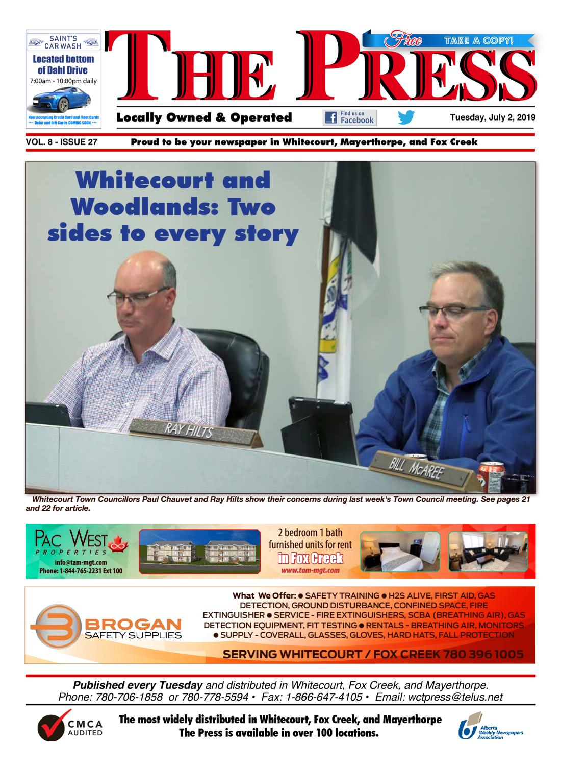 July 2 by WHITECOURT PRESS - issuu