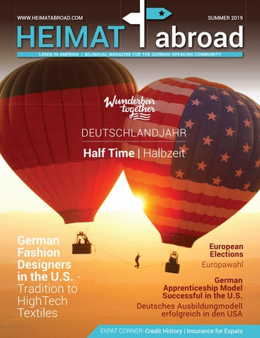 Heimat Abroad Summer 2019 By Heimat Abroad Issuu