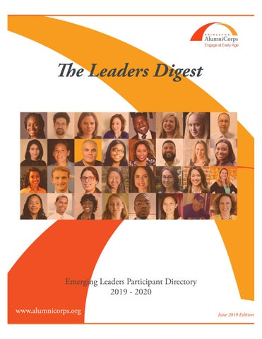 The Leaders Digest: Emerging Leaders Participant Directory 2019-20