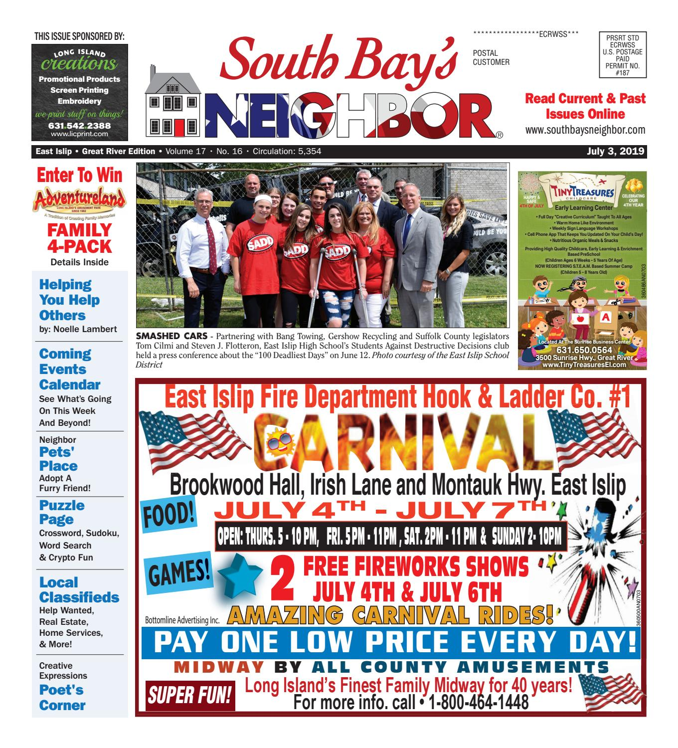 July 3, 2019 East Islip by South Bay's Neighbor Newspapers