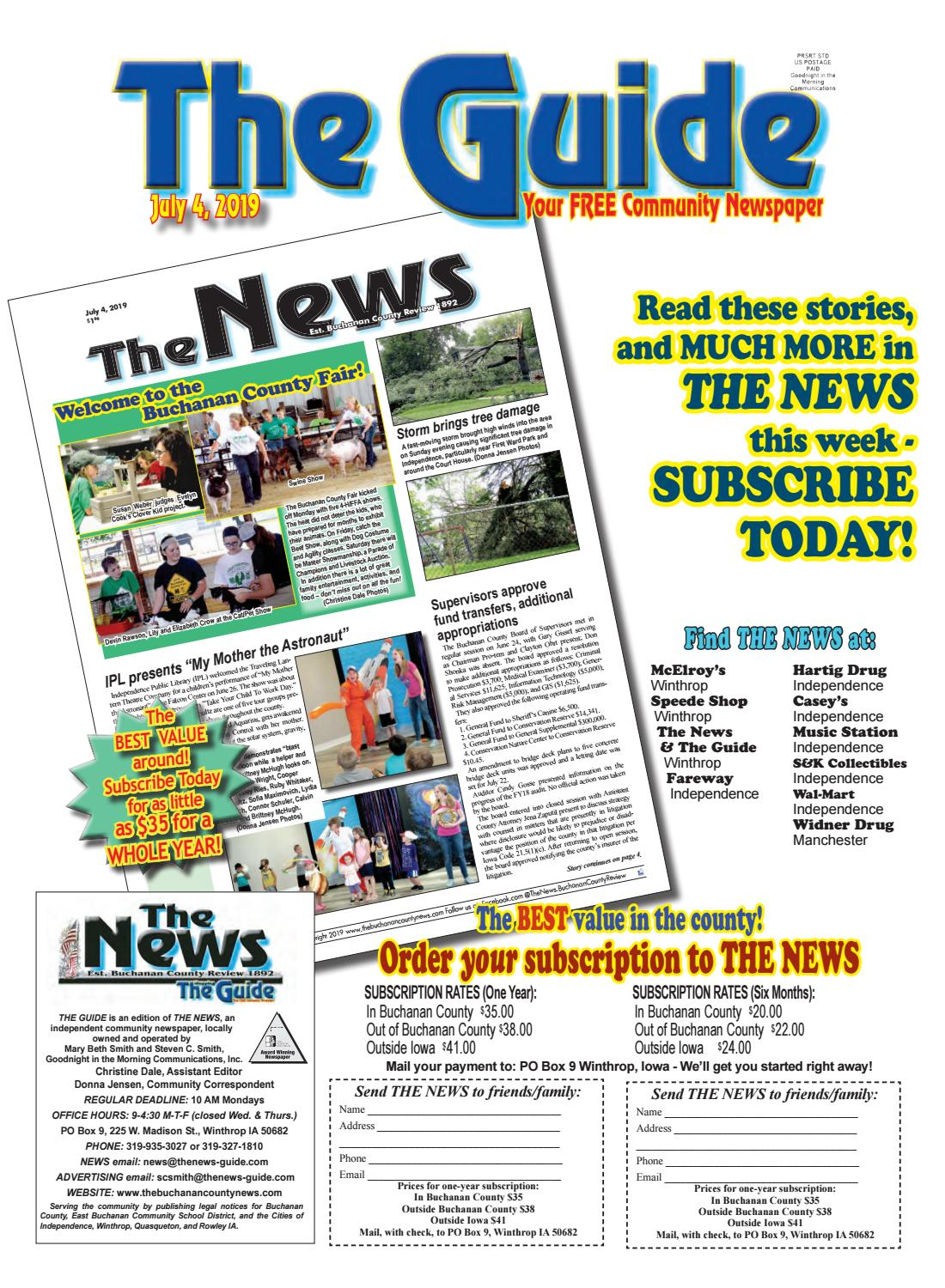 THE GUIDE 7 4 2019 by THE NEWS | Buchanan County Review - issuu