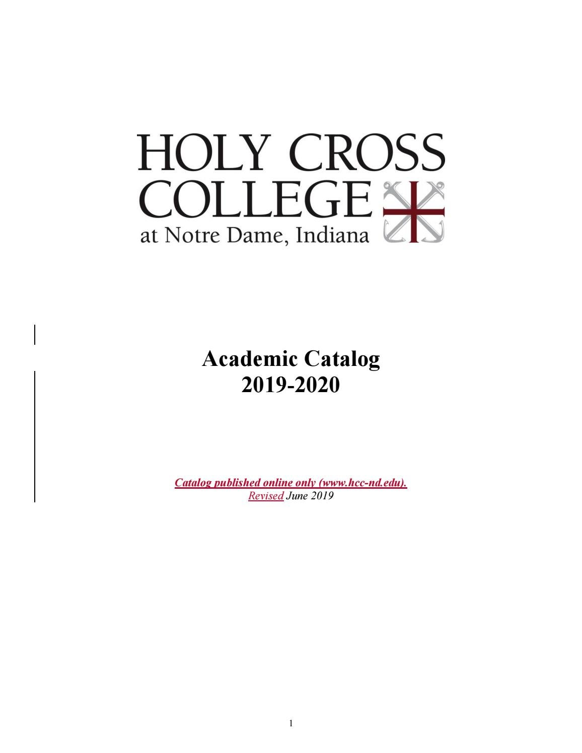 2019-2020 Academic Catalog by Holy Cross College - issuu