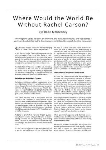 Page 25 of Where Would the World Be Without Rachel Carson?