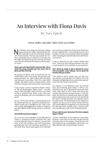 Page 44 of An Interview With Fiona Davis