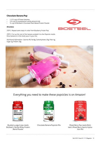 Page 51 of BioSteel Popsicles to Beat the Heat