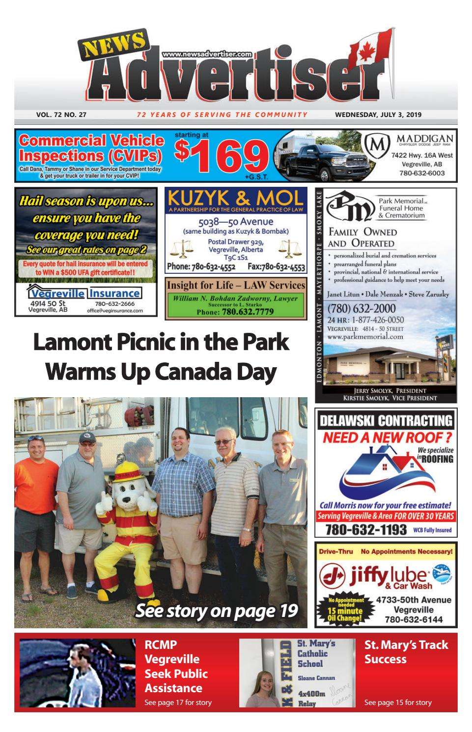 Vegreville News Advertiser - July 3, 2019 by The News