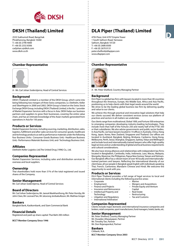 The British Chamber of Commerce - Handbook & Directory of