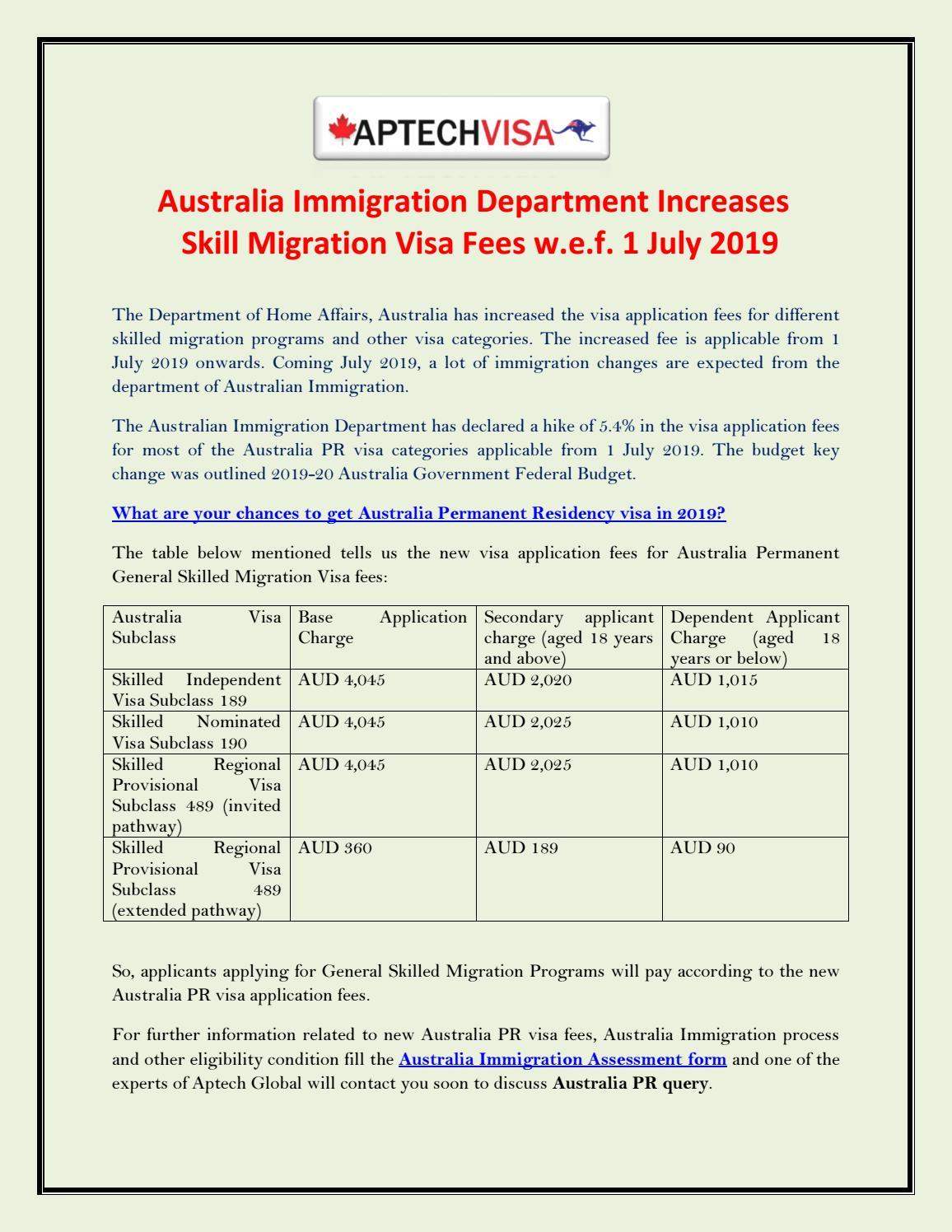 Australia Immigration Department Increases Skill Migration