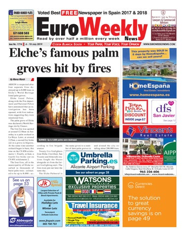 Euro Weekly News - Costa Blanca South 4 - 10 July 2019 Issue ...