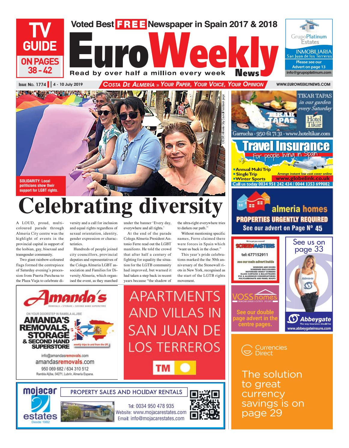 Euro Weekly News - Costa de Almeria 4 - 10 July 2019 Issue