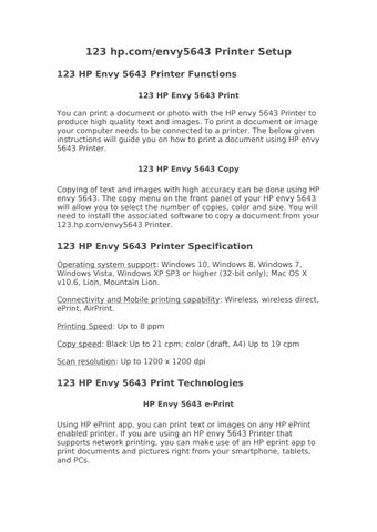 Comprehensive Guide for HP Envy 5643 Printer Setup by