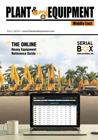 Plant & Equipment | Middle East | July 2019 Edition by Plant