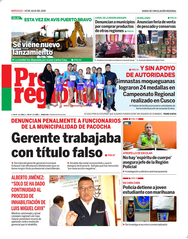 Prensa Pr 20190703 Diario By Regional Issuu sQhrdtC