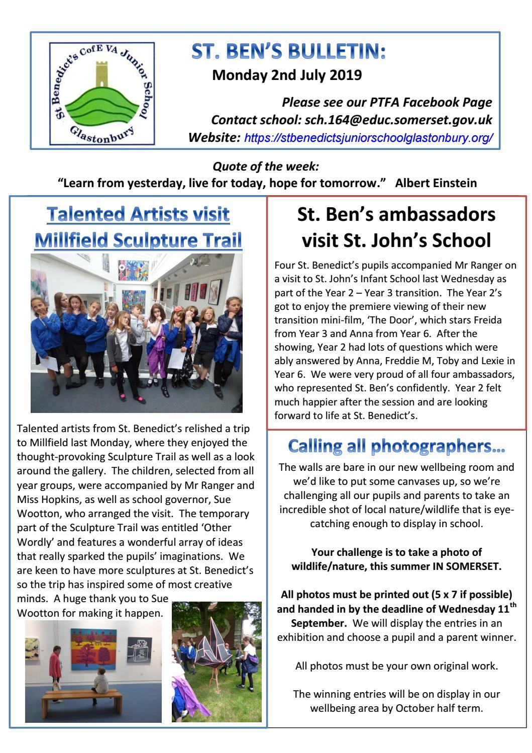2nd july 2019 st bens newsletter by Edgar Danmer - issuu