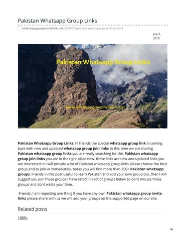 Cricket Whatsapp Group Links by whatsappgrouplink77 - issuu