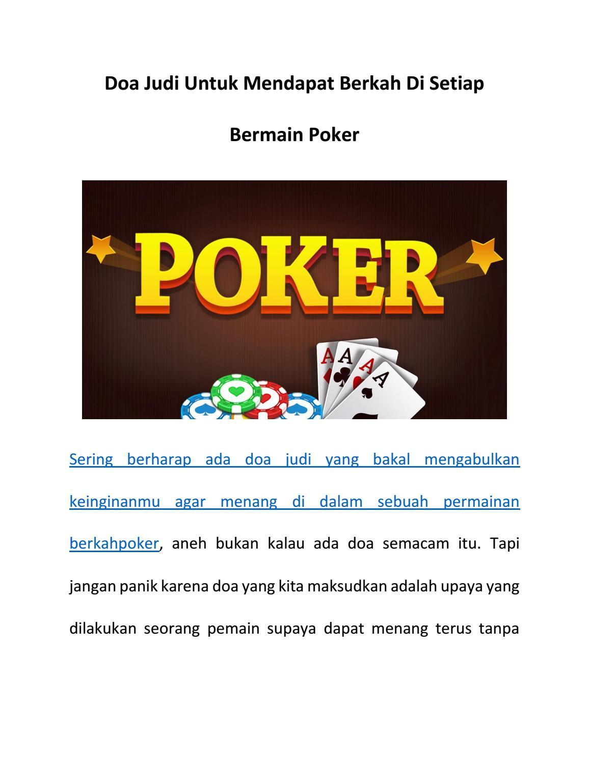 Doa Judi Untuk Mendapat Berkah Di Setiap Bermain Poker By Sandra Dewi Issuu