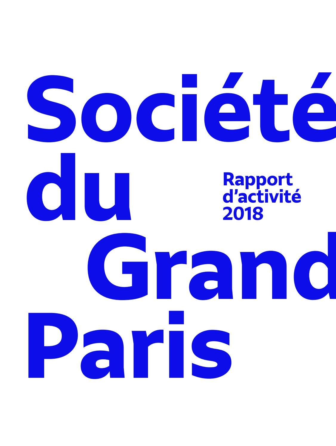 La Bonne Conduite Kremlin Bicetre société du grand paris - rapport d'activité 2018société