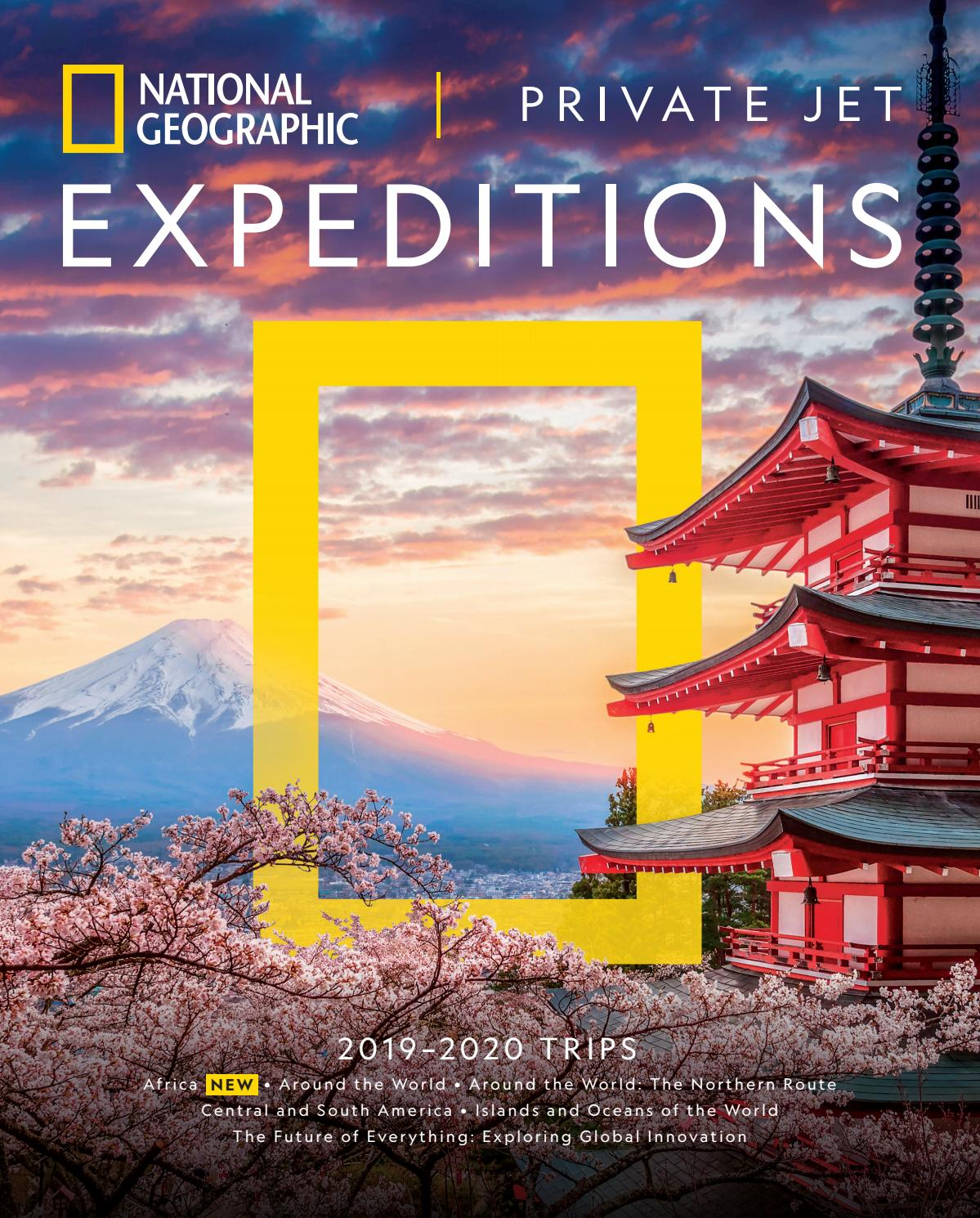 2019-2020 National Geographic Private Jet Expeditions