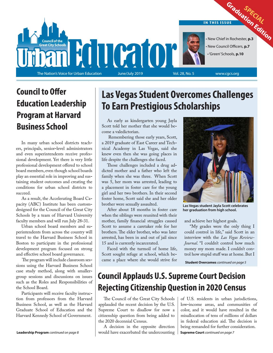Urban Educator- June/July 2019 by Council of the Great City