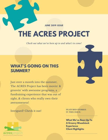 The ACRES Project Newsletter: June 2019 by theacresproject - issuu