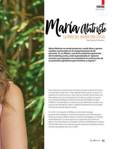 Page 23 of María Alatriste, gurú del márketing social