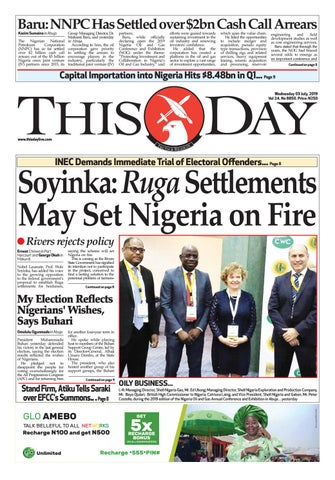 WEDNESDAY 3RD JULY 2019 by THISDAY Newspapers Ltd - issuu