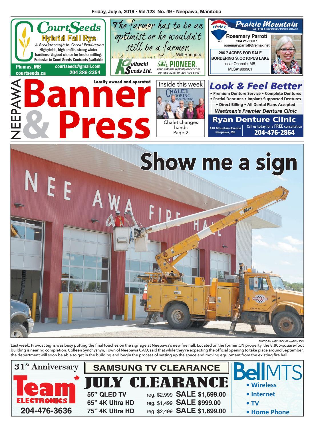 Friday, July 5, 2019 Neepawa Banner & Press by Neepawa