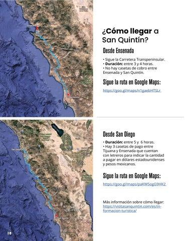 Page 18 of ¿Cómo llegar a San Quintín?