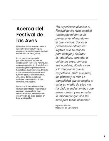 Page 3 of Acerca del Festival de las Aves